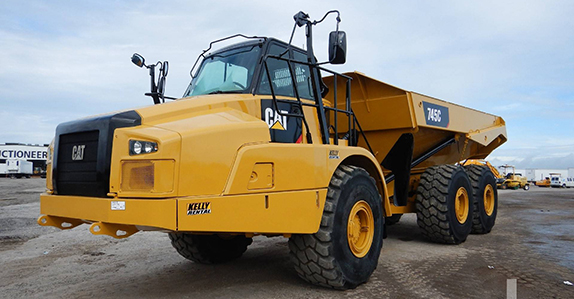 Articulated dump trucks for sale.