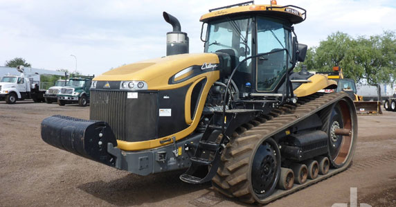 2015 Challenger MT845E track tractors sold by Ritchie Bros.