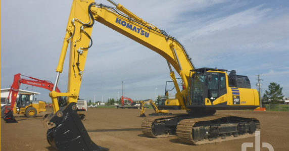 Construction equipment sold by Ritchie Bros.